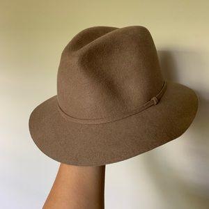 J. Crew Tan Wool Floppy Fedora Hat SZ S/M